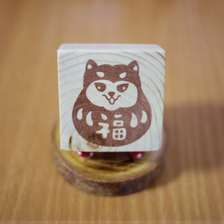 Hand carved rubber stamp _ Chai blessing God