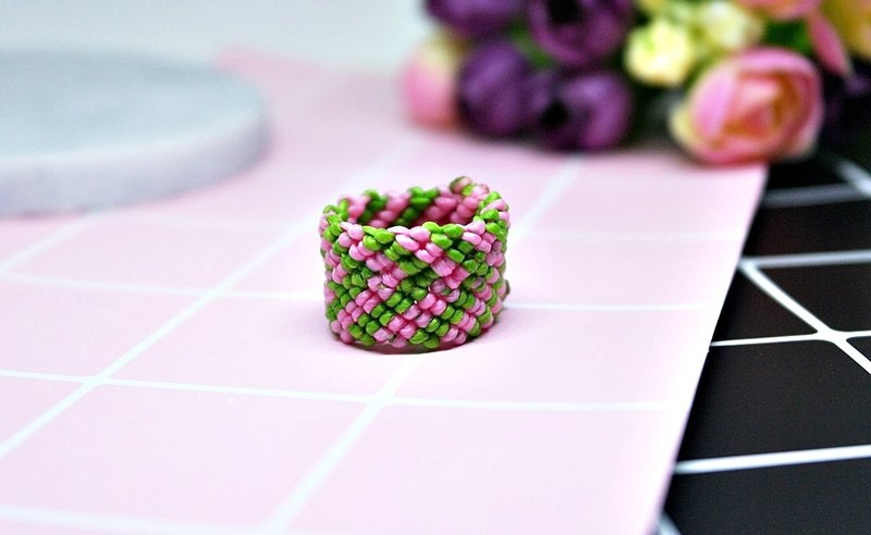 * 3 angle square * - Thai silk wax line ring series - / / can choose the color //