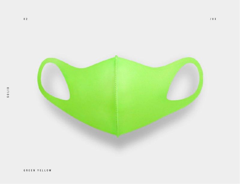 LeMASKA 韓國口罩 時尚口罩 _ 螢光綠 (可重複使用)