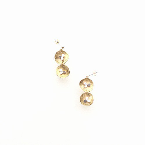 Brass and mosaic mix earrings Mimosa 4