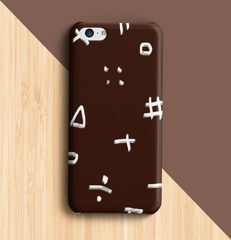 Calculate - brown aphone case