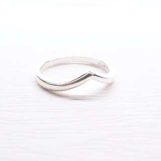 Ershi silver [plain sharp silver ring] a