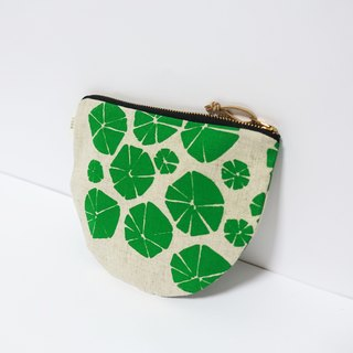 Screen printing  Cosmetic bag  Nasturtium