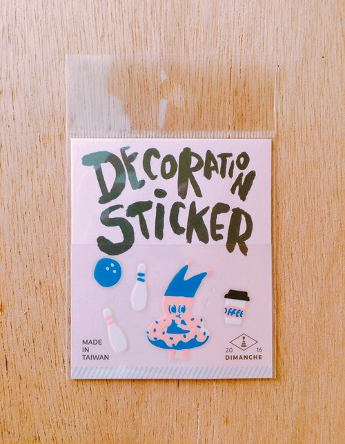 Dimeng Qi small decorative stickers [elf - donut]