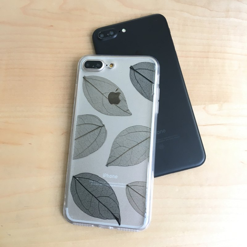 :: leaf color than gray veins embossed personalized stylish mobile phone sets pressed flower phonecase
