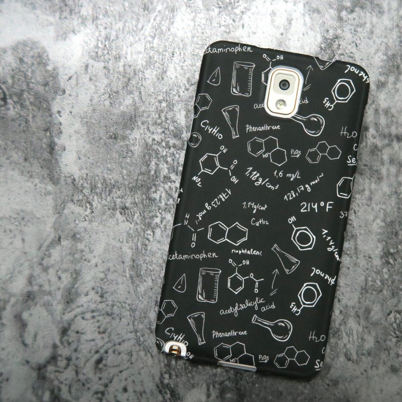 """Shell"" series - Black Bottom chemical pattern (hard shell) Original Phone Case / Cover iPhone / Samsung / HTC / Sony / LG"
