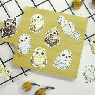 QQ Owl Waterproof Sticker Set