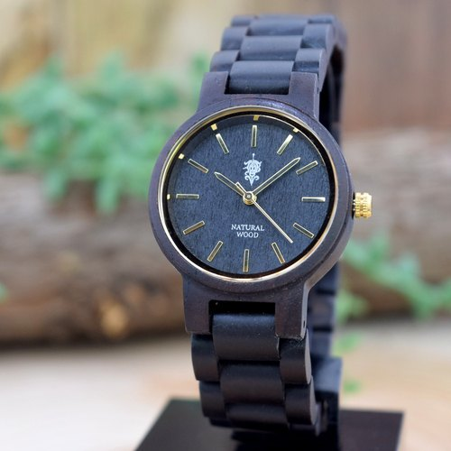 EINBAND Dank Ebony & Gold 32mm Wooden Watch