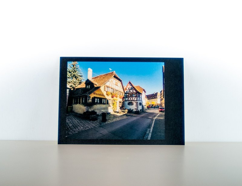 Photographic Postcard: Street View, Rothenburg ob der Tauber, Germany