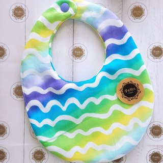 (Gradation D) Eight Yarn 100% cotton double-sided egg bib