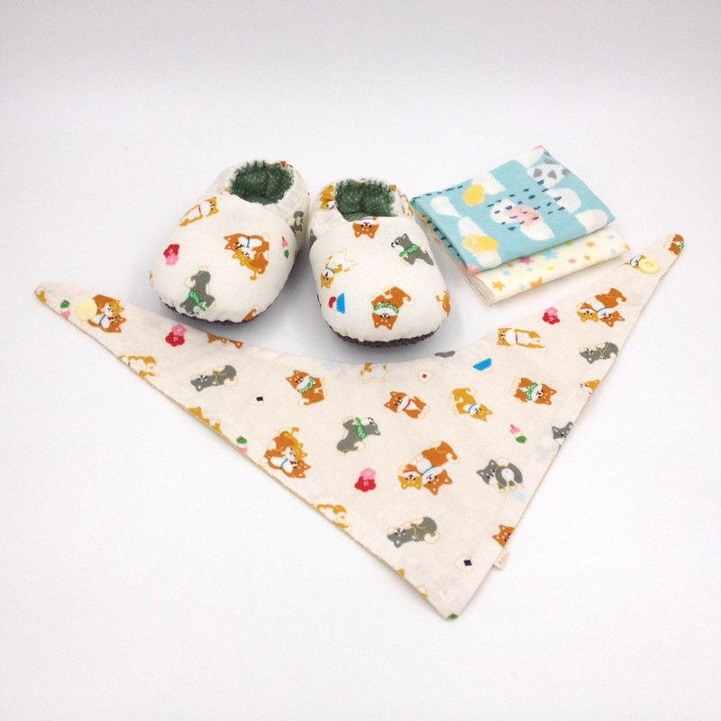 Meng Meng Shiba Inu - Miyue Baby Gift Box (toddler shoes / baby shoes / baby shoes + 2 handkerchief + scarf)
