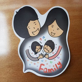 Completely waterproof sticker - Family