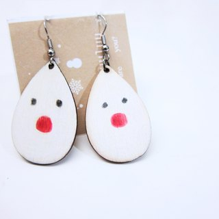 Elk snowman earrings