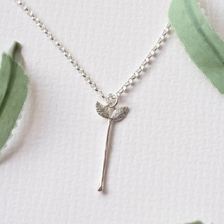 Small Fresh on the Clavicle - Grass (Pure Silver Necklace Silver) ::C% Handmade Jewelry::