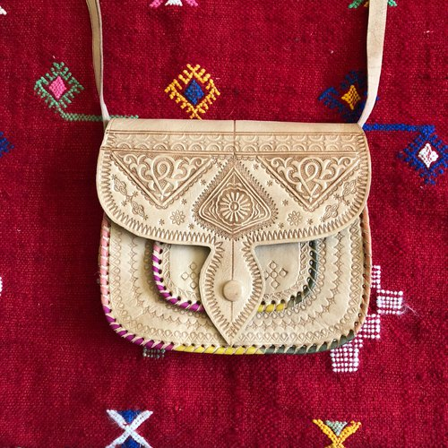 Moroccan Color Camel Bag Beneath under the Orange Blossom Tree II