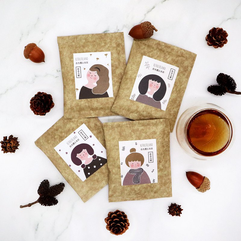 KerKerland - Natural Agricultural Law Red Oolong Tea Bag - Girl Series