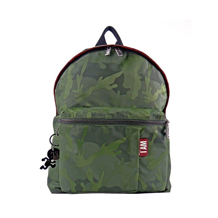 Free shipping I AM-L green camouflage backpack