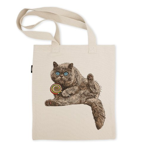 AMO®Original Tote Bags/AKE/The Cat worring It's Lollipop Being Snatched