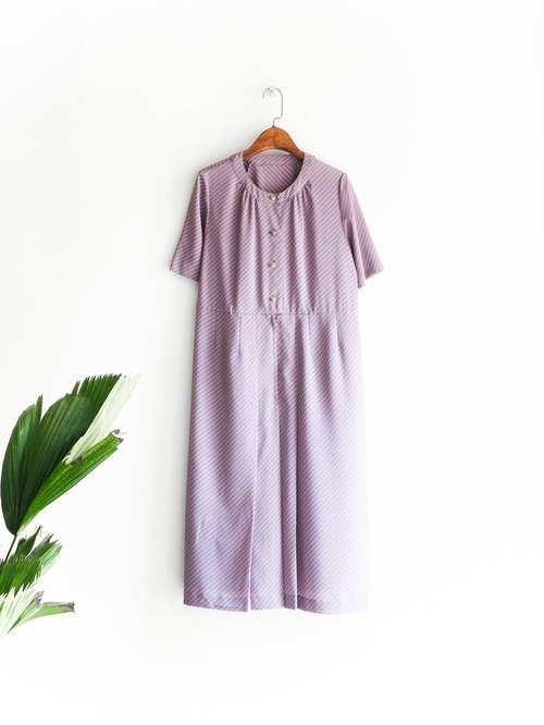 River Water Mountain - Yamagata Taro Purple Purple Pink Tangerine Girl Antique Collar Silk Dress overalls oversize vintage dress