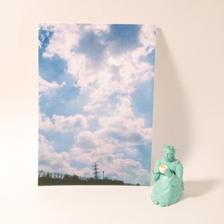 Quietly draw cool card / multifunctional storage postcard / big cloud