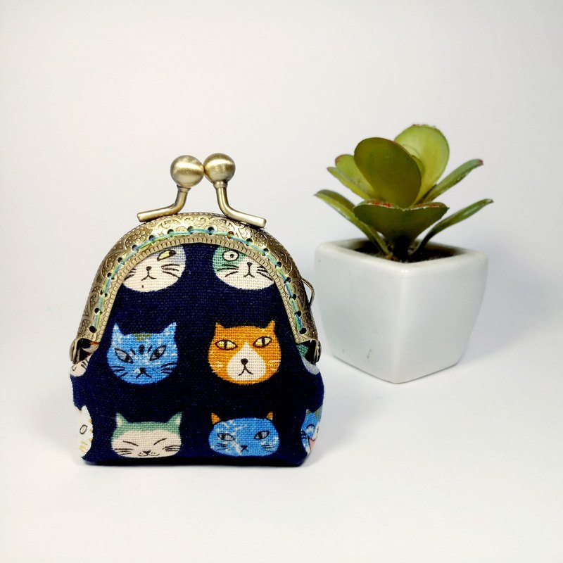 [Little Cat - Blue] Mini Gold Coin Purse