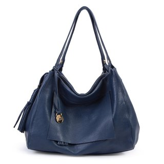 La Poche Secrete: French girl's handsome bag _ Jazz Blue _ leather shoulder bag with backpack _1974