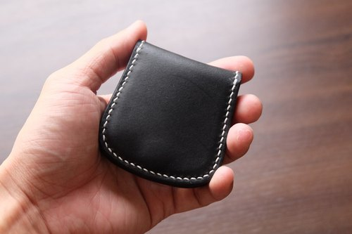 Hand leather leather wallet Italian leather tannage