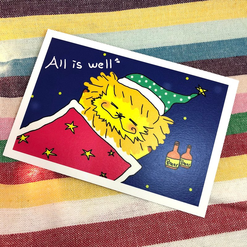 KaaLeo Postcard - All is well Lion Lion ライオン