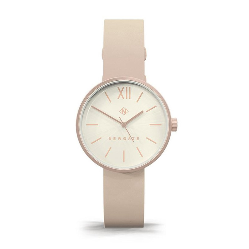 THE ATOM - LADIES PINK LEATHER STRAP WATCH