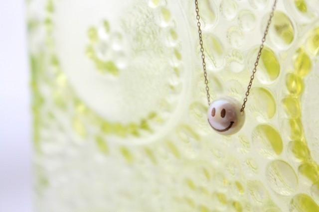 MAKIE pearl necklace <SMILE>