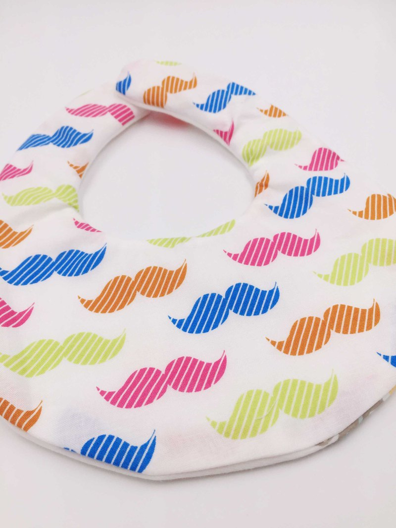Color warrior bib double yarn saliva towel design