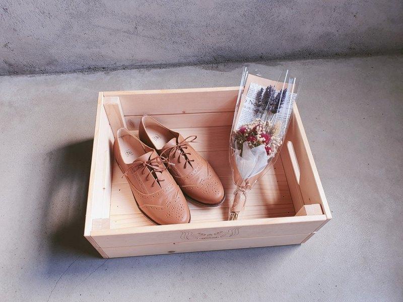 【小南法】兩穿雕花緞帶牛津鞋_焦糖棕 | 手工訂製 | MIT