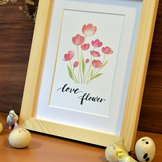 Hand-painted decorative painting watercolor floral text - Text can be customized