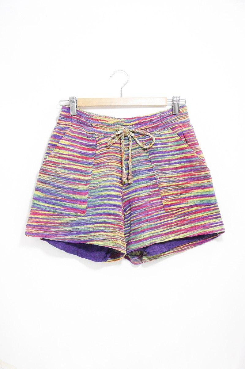 Women's ethnic style stitching knitted shorts - Gradient colorful (limited edition)