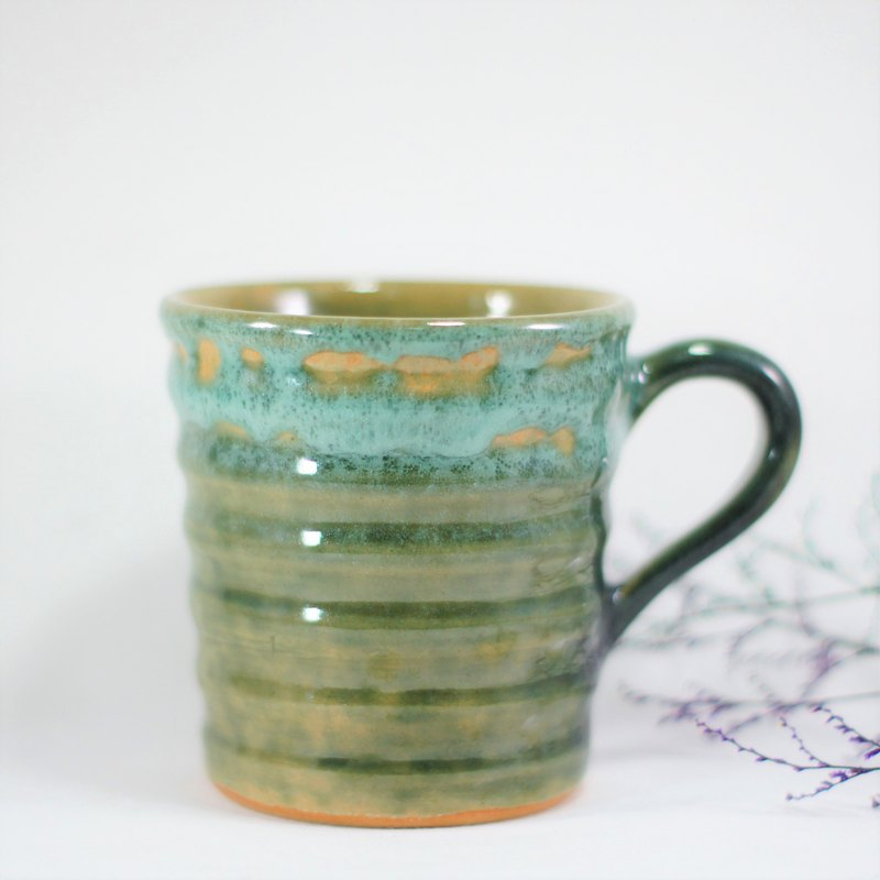 Seaweed green wave cup, coffee cup, teacup, cup, mug - capacity about 270ml