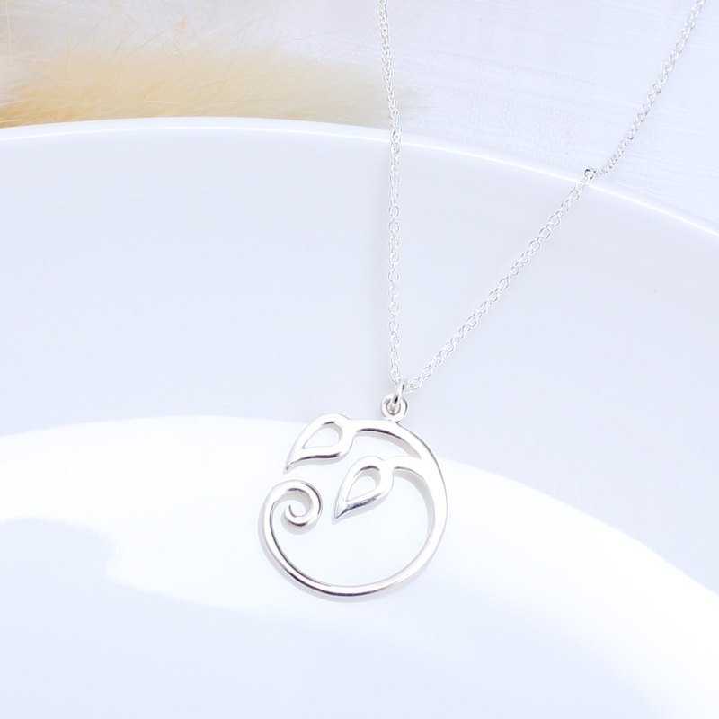 Bud of Life Root s925 sterling silver necklace Birthday Valentine's Day gift