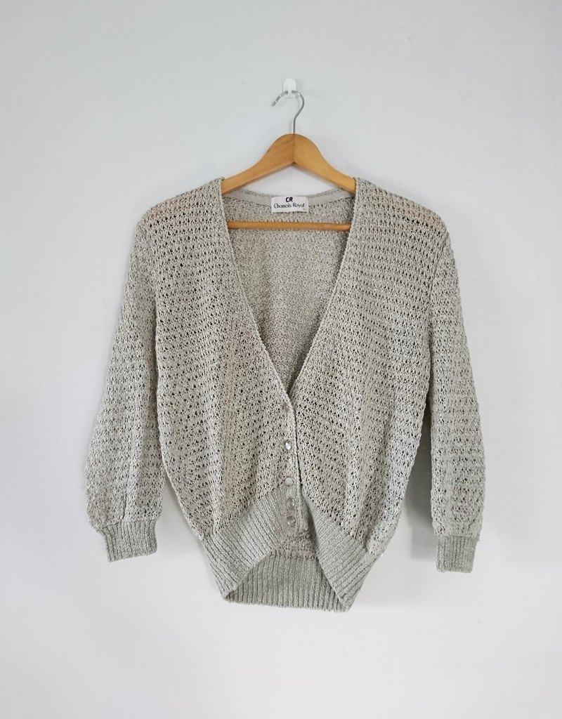 [Journey flower] 2 vintage - Ribbons knit shirt