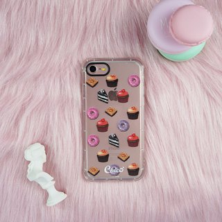 Black eye cushion air cushion anti-fall mobile phone shell [dessert]