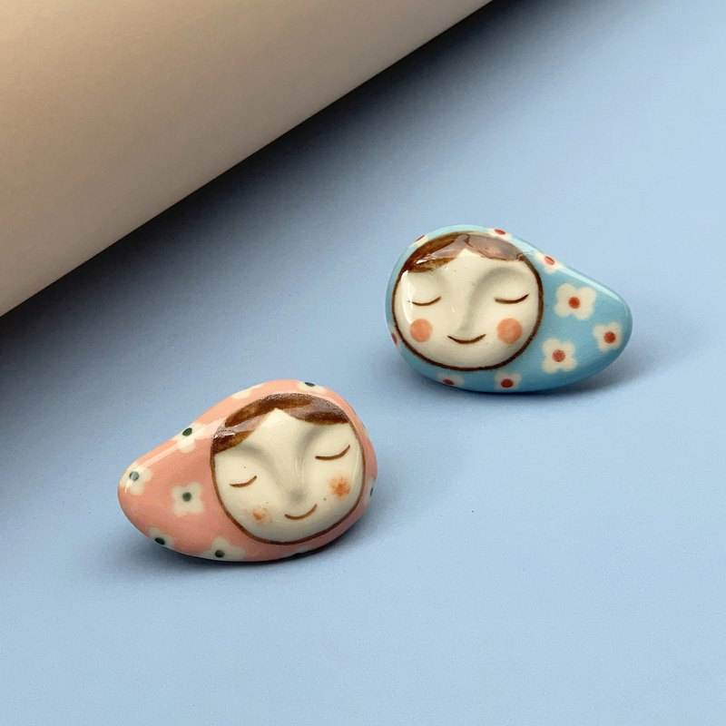 Lady May&Clay l Brooch l Pin l Ceramics