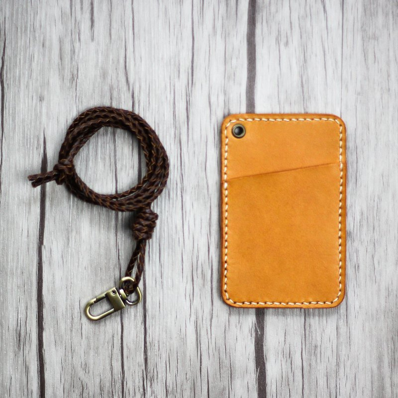 MISTER Handmade Leather Leisure Card Holder / Identification Card / Work Card / ID Card Holder