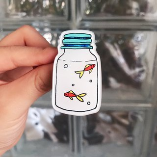 Acrylic Brooch Goldfish Bottle Original Design Brooch / Gift / Original Design