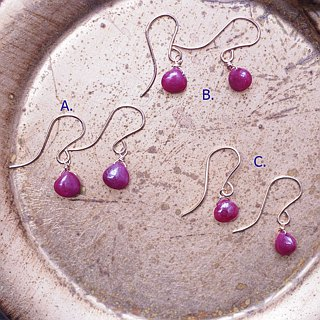 [Maya Tara] 14KGF Ruby Earrings Ruby July Birthday Stone Leo Twin Stone