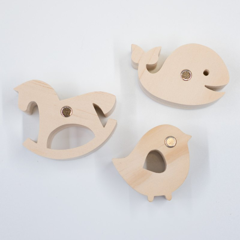 wagaZOO thick-cut shape building block magnet
