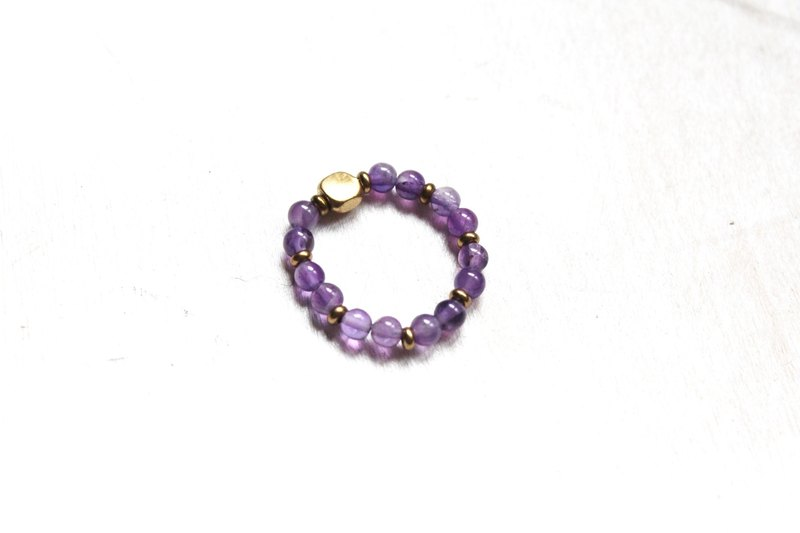 【Amethyst】classic series-retractable rope rings (Customizable )