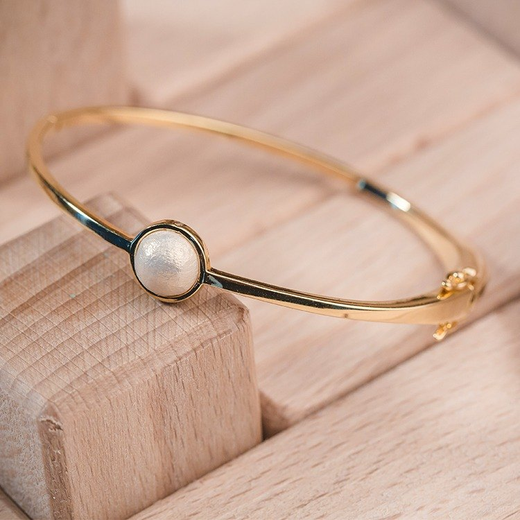 Cotton and pearl bracelet-Endless