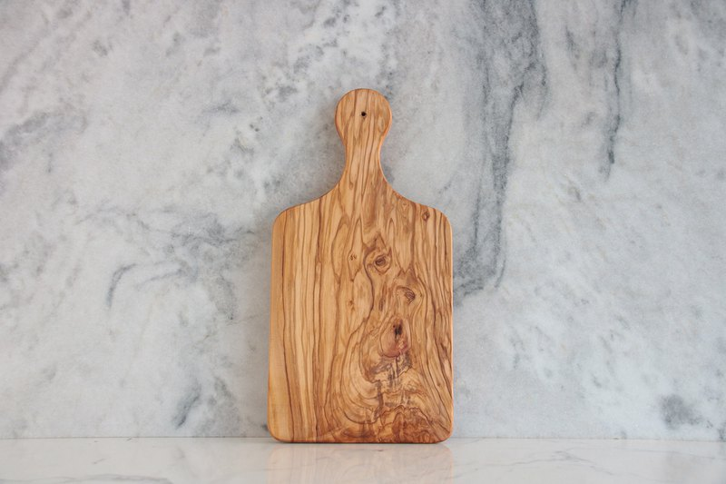 Optional pattern table preferred - R36 olive wood chopping board (one thing and one shot) -Custom aspect hand chopping board