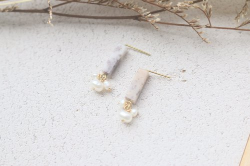 Purple Jade Earrings 1108 - Reconstruction