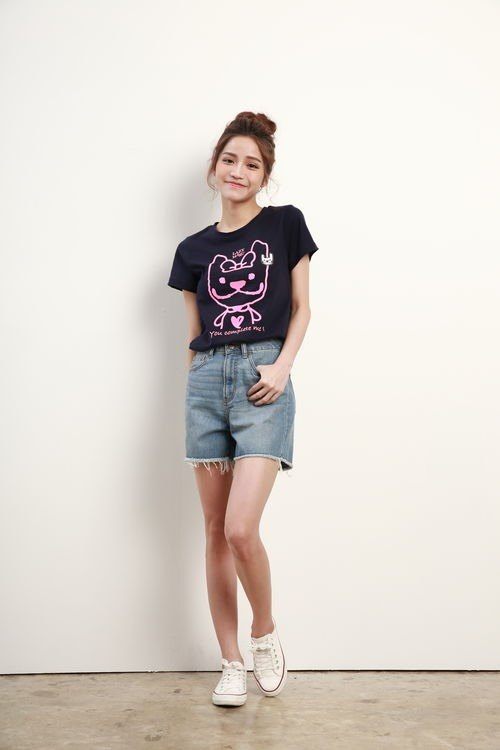LAZYMARU-LM001378-SHINY has your complete short-sleeved T-shirt (Zhang Qing)