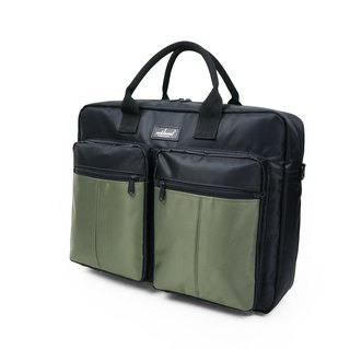 Matchwood Design Matchwood Promotion Briefcase Business Briefcase Pen Messenger Bag Waterproof Bag Black Green