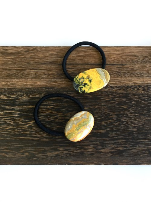 Bumble bee jasper Hair-tie